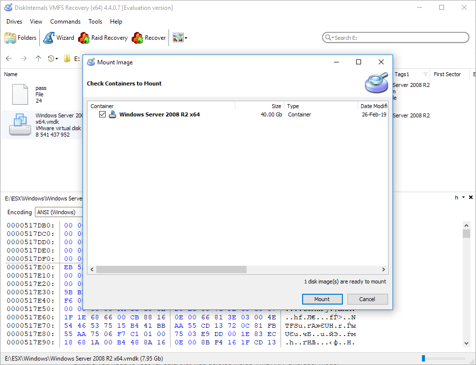 How to preview recovered * VMDK file before purchase