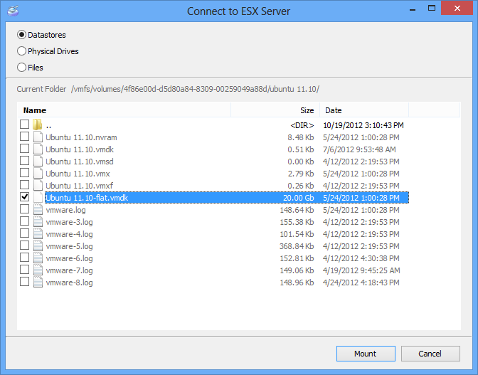 VMFS Recovery Connect ESX server part 3