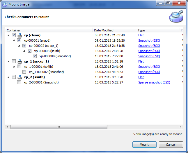 Mounting recovered VMDK files