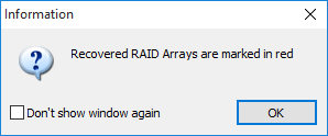 Automatically detected RAID disks