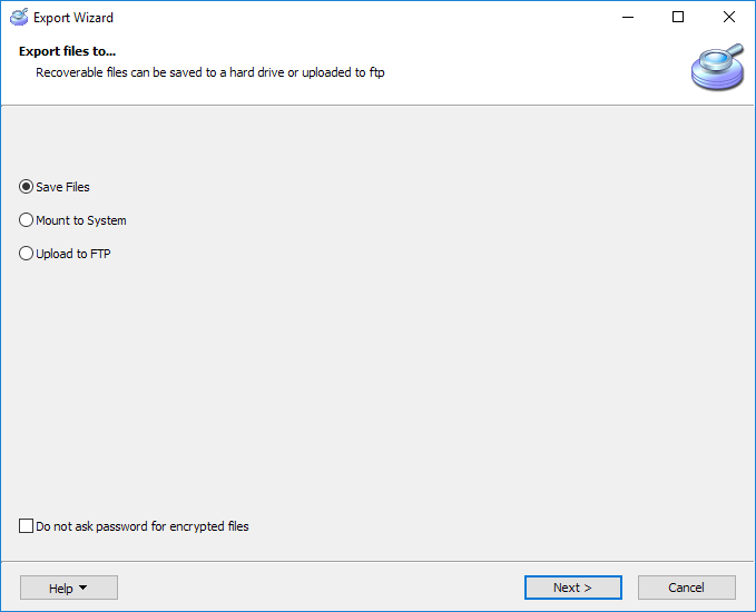 VMFS Recovery™: exporting recovered data
